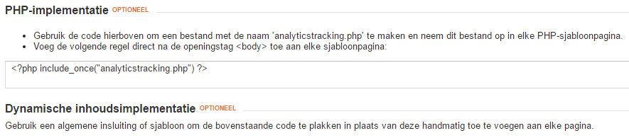 google analytics custom implementatie