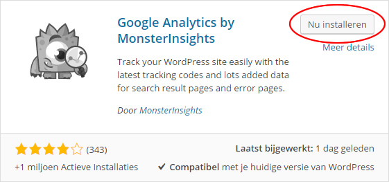 google analytics monsterinsights